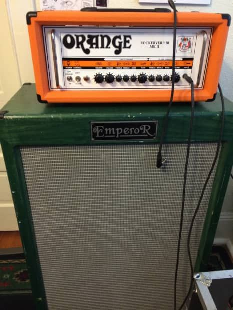 for sale we have a green emperor 6x12 guitar cab has two 8 ohmfor sale we have a green emperor 6x12 guitar cab has two 8 ohm outputs with 4\u2026