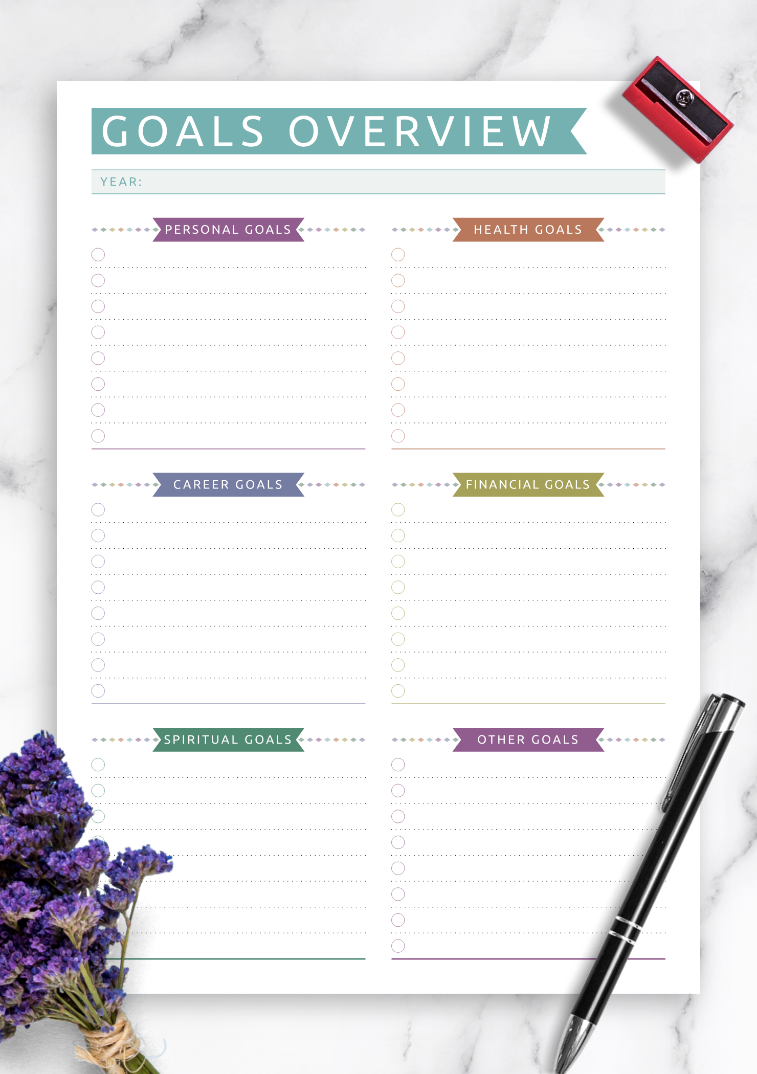 Pin On Goal Amp Habit Tracker Templates