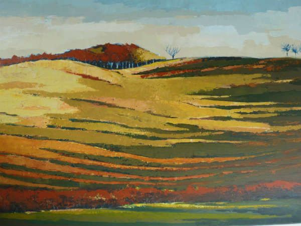 Artwork >> Sancelme Marie-Noelle >> Lights #Fall  #artworks, #nature, #paining, #masterpiece, #field