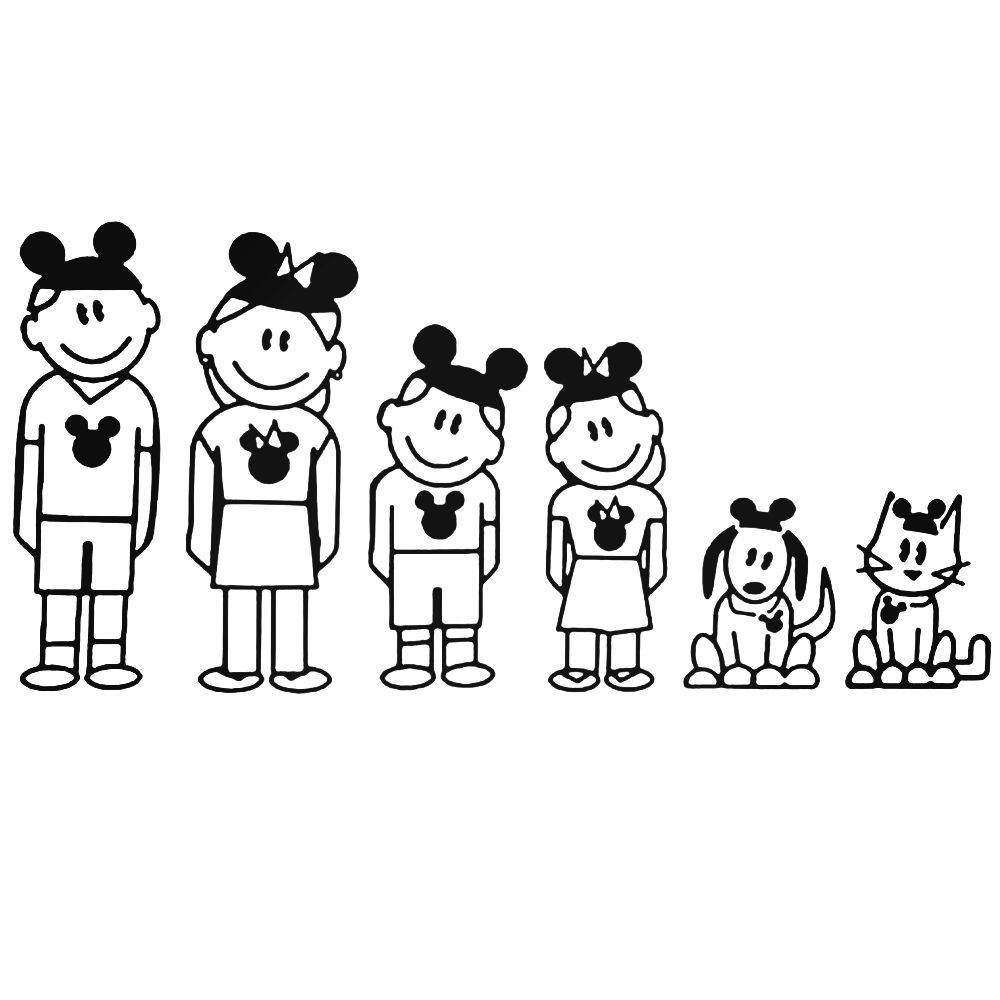Disney family 92 decal ballzbeatz com