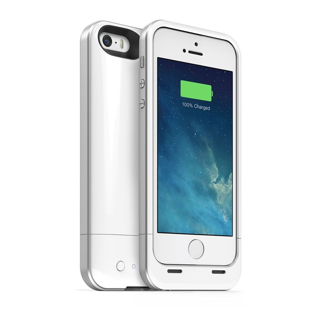iPhone 5 / 5S Chrome Pro Power Pack Plus Case Charger-White