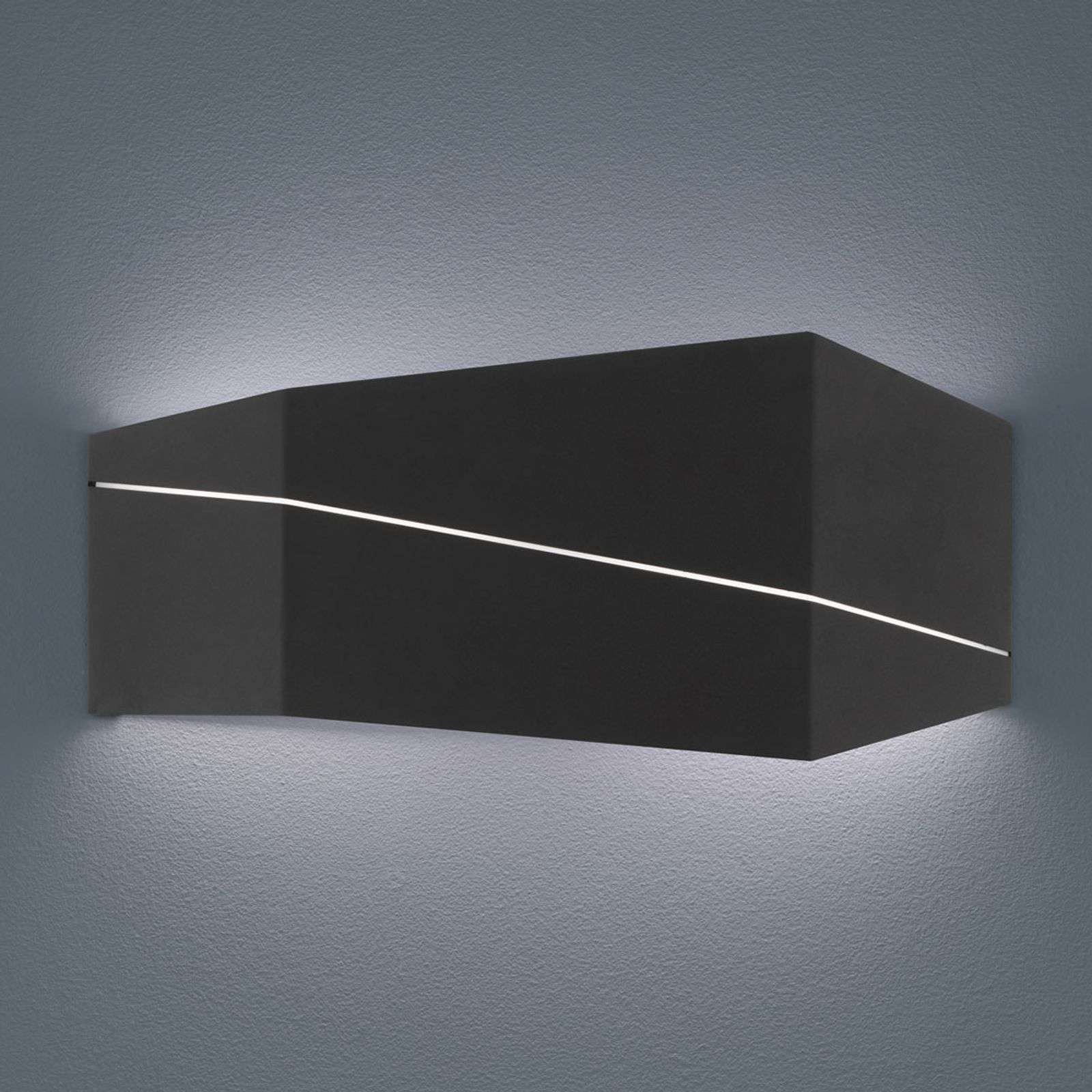 Zorro Applique Led Moderne En Noir Mat Wandlamp Led Badkamer Gamma