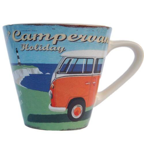 VW Camper Van Holiday Mug/Cup - Martin Wiscombe Design £10.75