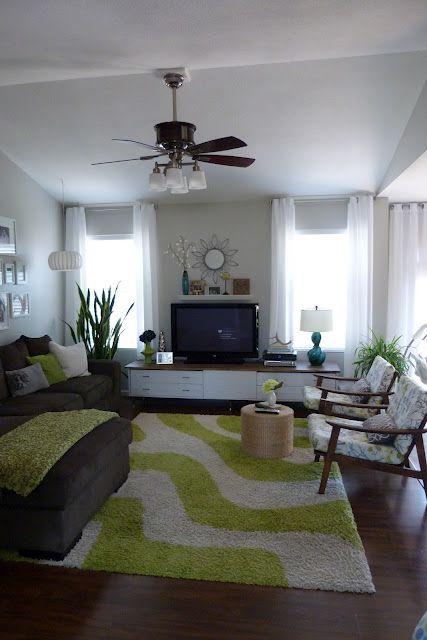 teal and lime living room  brown living room decor brown