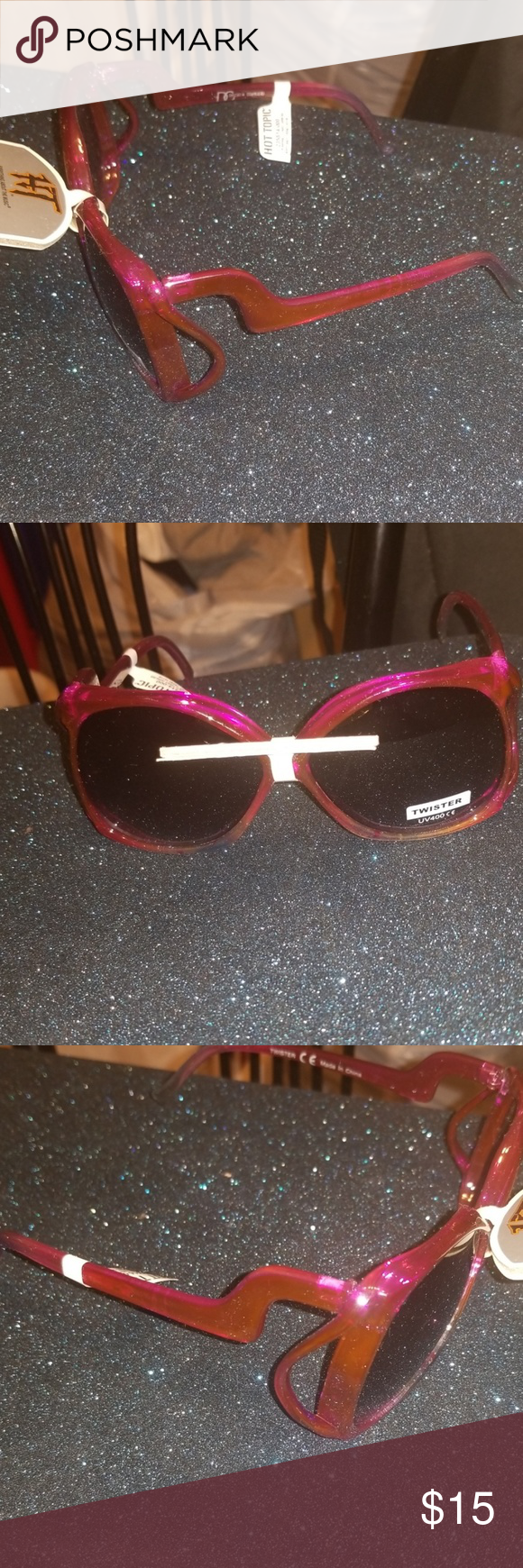 d5b02f2c98b4 Hot Topic Zig Zag Purple Sunglasses w.Free Case Every pair of glasses  bought from us comes with a free hard canvas zip up case.