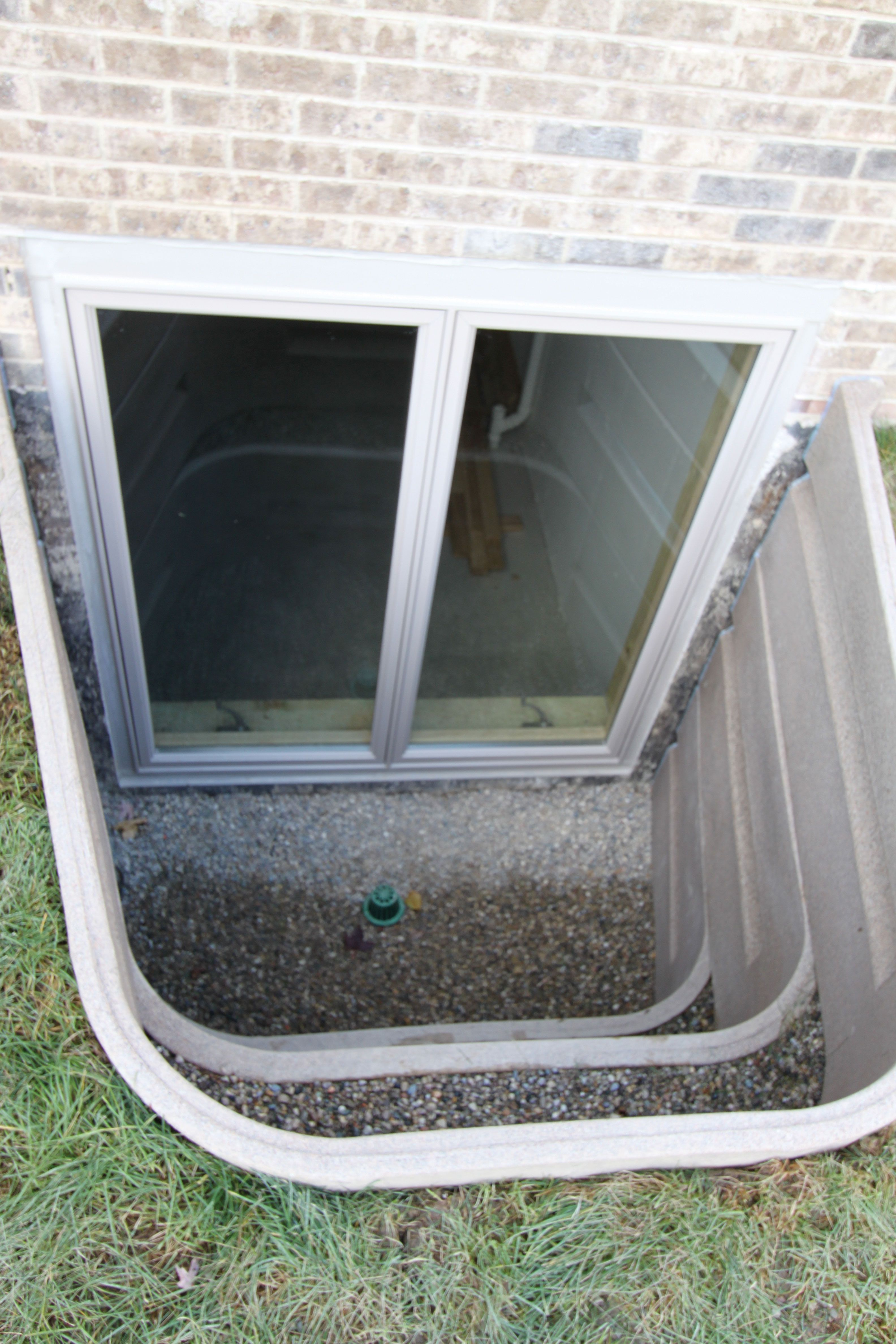 Egress window decor  musthave egress window and well for both light and safe escape