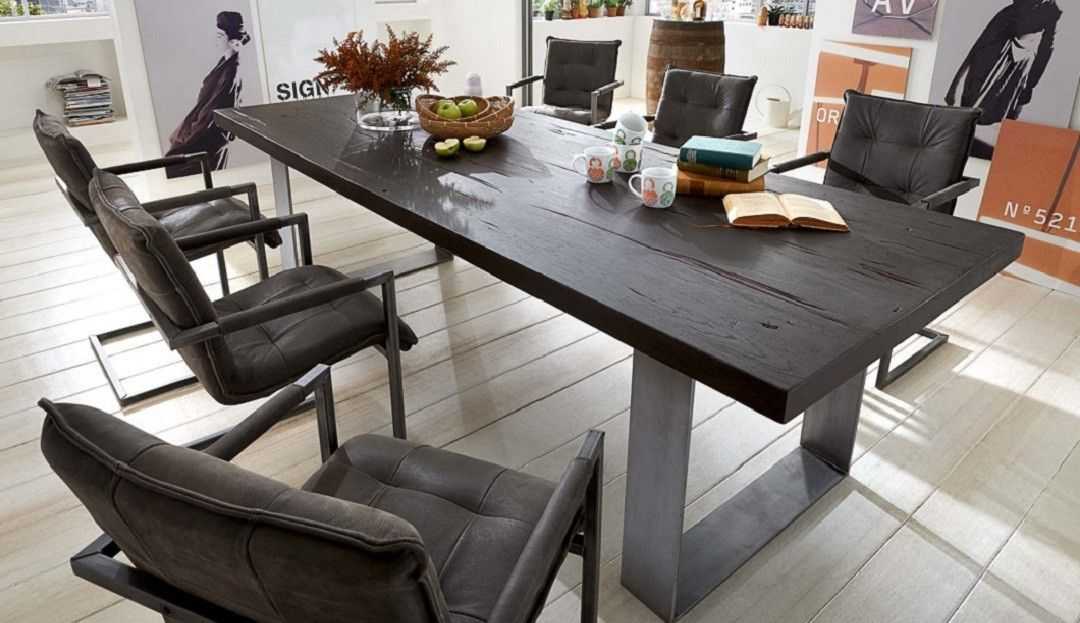 The Houston Dining Table Is Handmade To Order With Solid Rustic