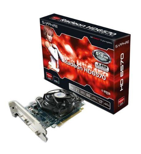 Sapphire Radeon Hd 6570 Hypermemory With 512mb Ddr5 Vram Hdmi Dvi D Vga Pci Express Graphics Card 11191 0 Graphic Card Computer Accessories Computer Components
