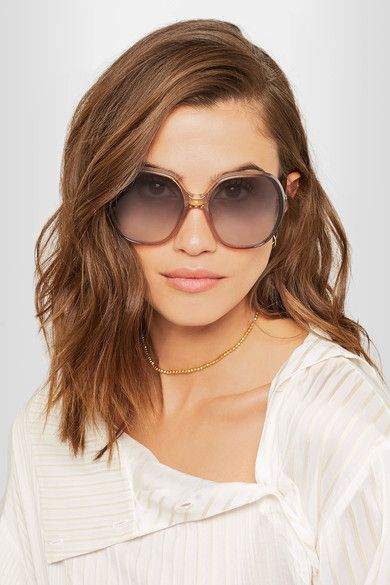 a48449d46f3 Chloe Square Aviator Sunglasses