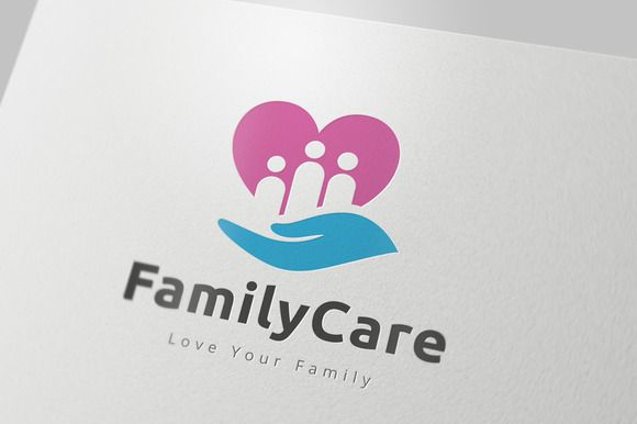 Family Care Logo by Super Pig Shop on Creative Market