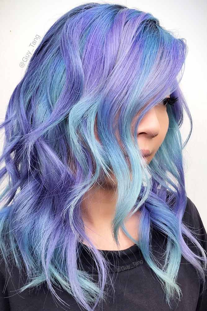 49 Tempting And Attractive Purple Hair Looks Hair Pinterest