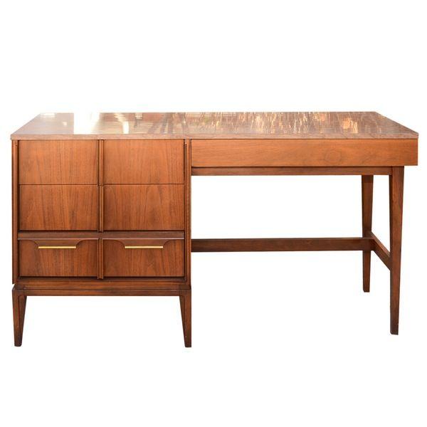 Mid Century Modern Walnut Desk By Basic Witz Walnut Desk Modern
