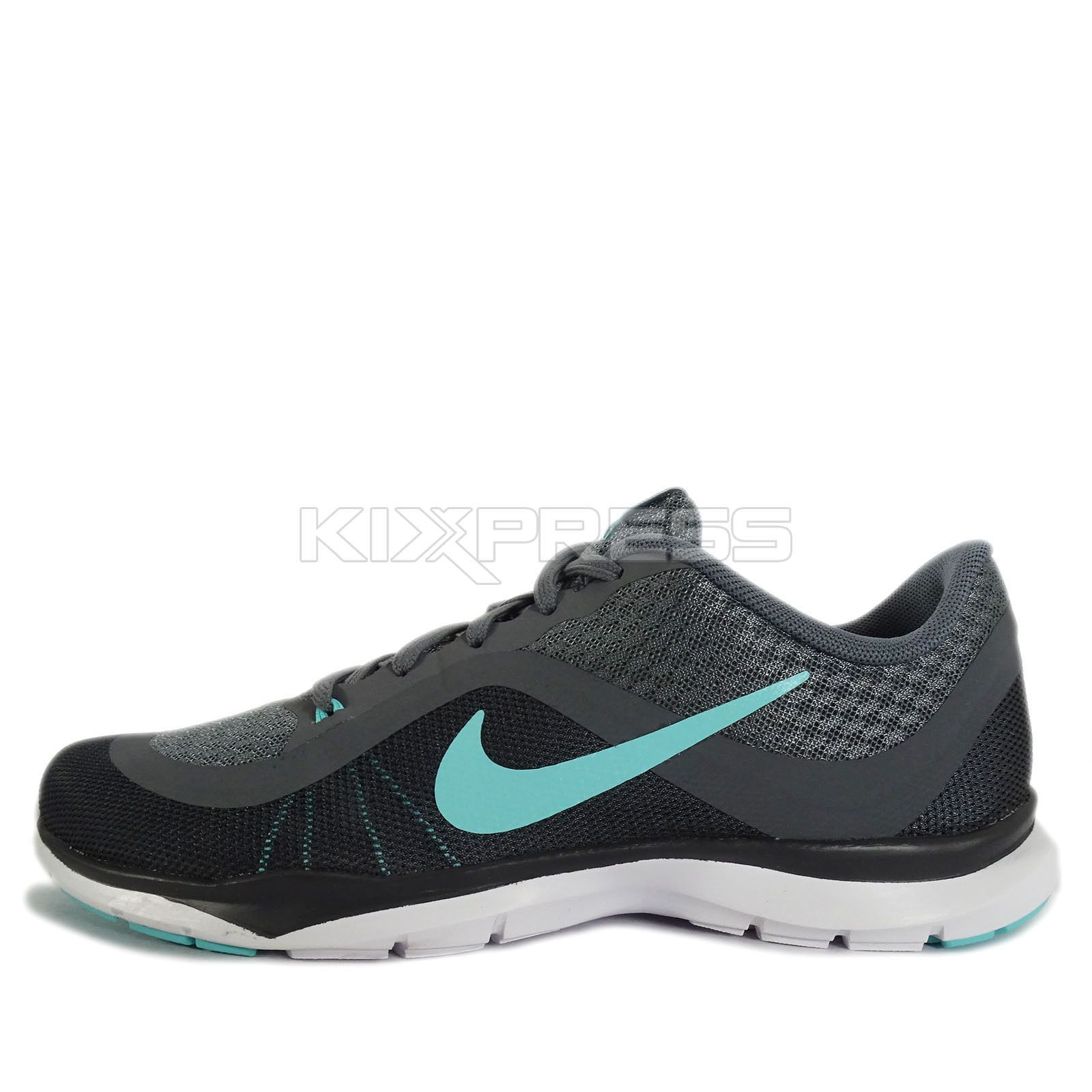 e028a31e95d37 WMNS Nike Flex Trainer 6  831217-004  Training Grey Turquoise-Black ...