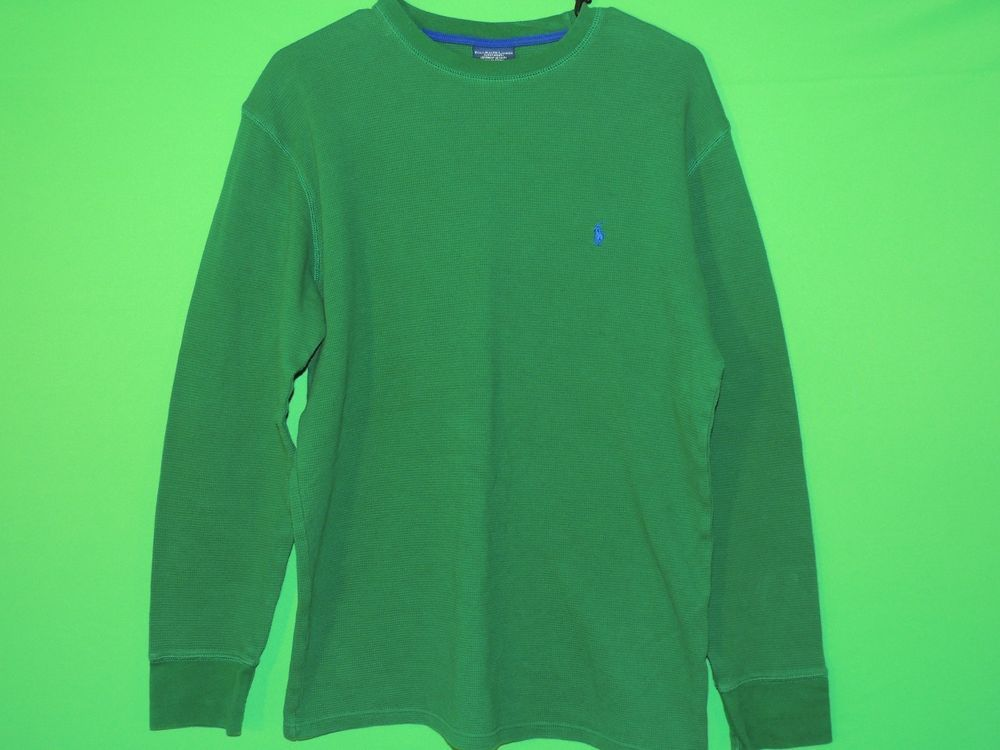 #Polo #RalphLauren #Mens #Large #Green #LongSleeve #Sleepwear #Sleep #Shirt #FREEShipping