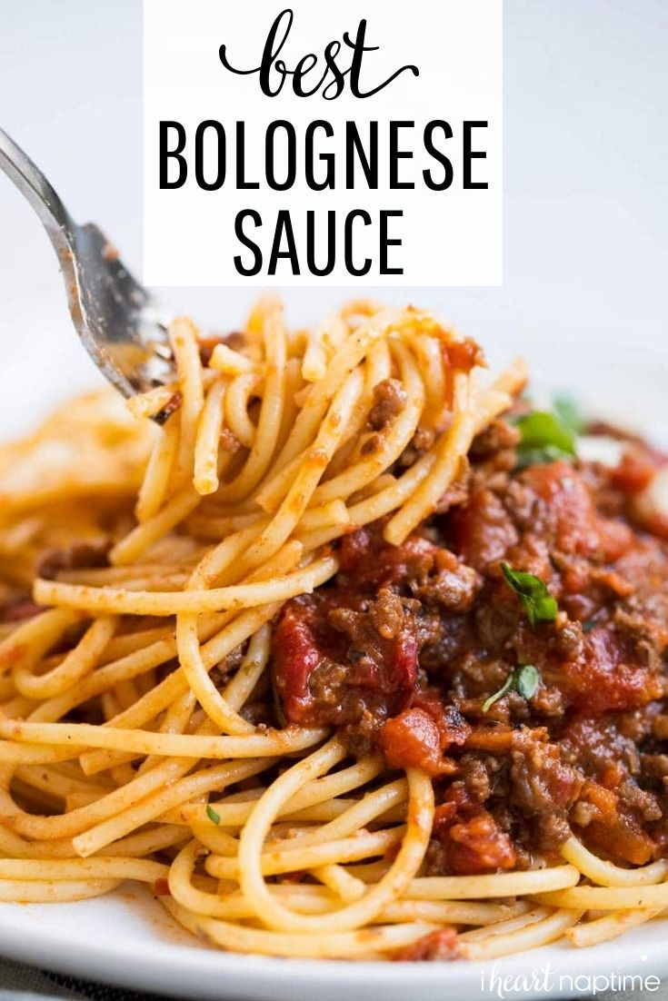 The BEST Homemade Bolognese Sauce #bolognesesauce