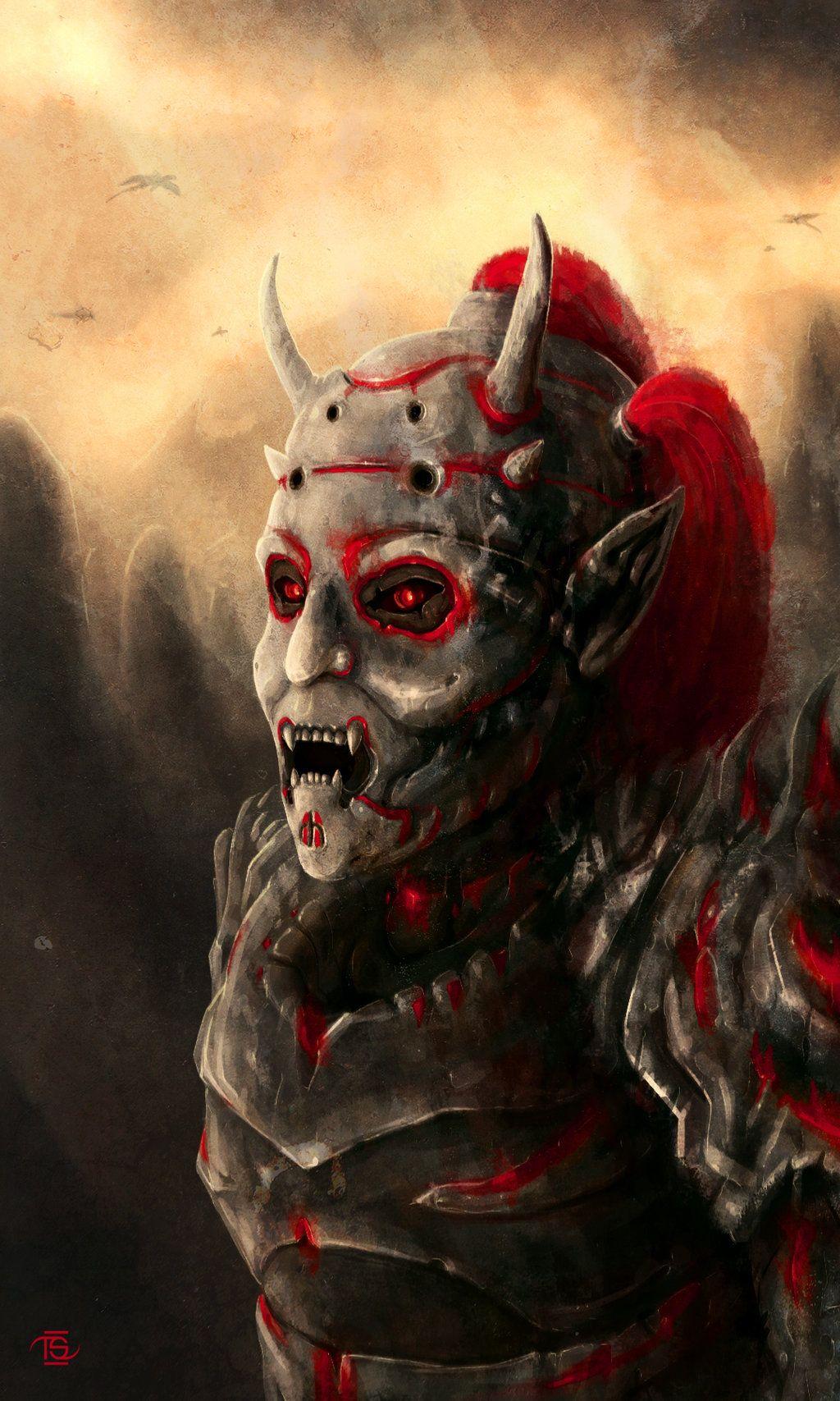 Image result for elder scrolls dremora art