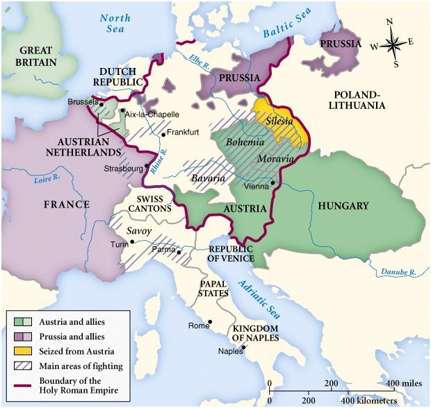 Political War Of Austrian Succession Was Fought From 1740 1748