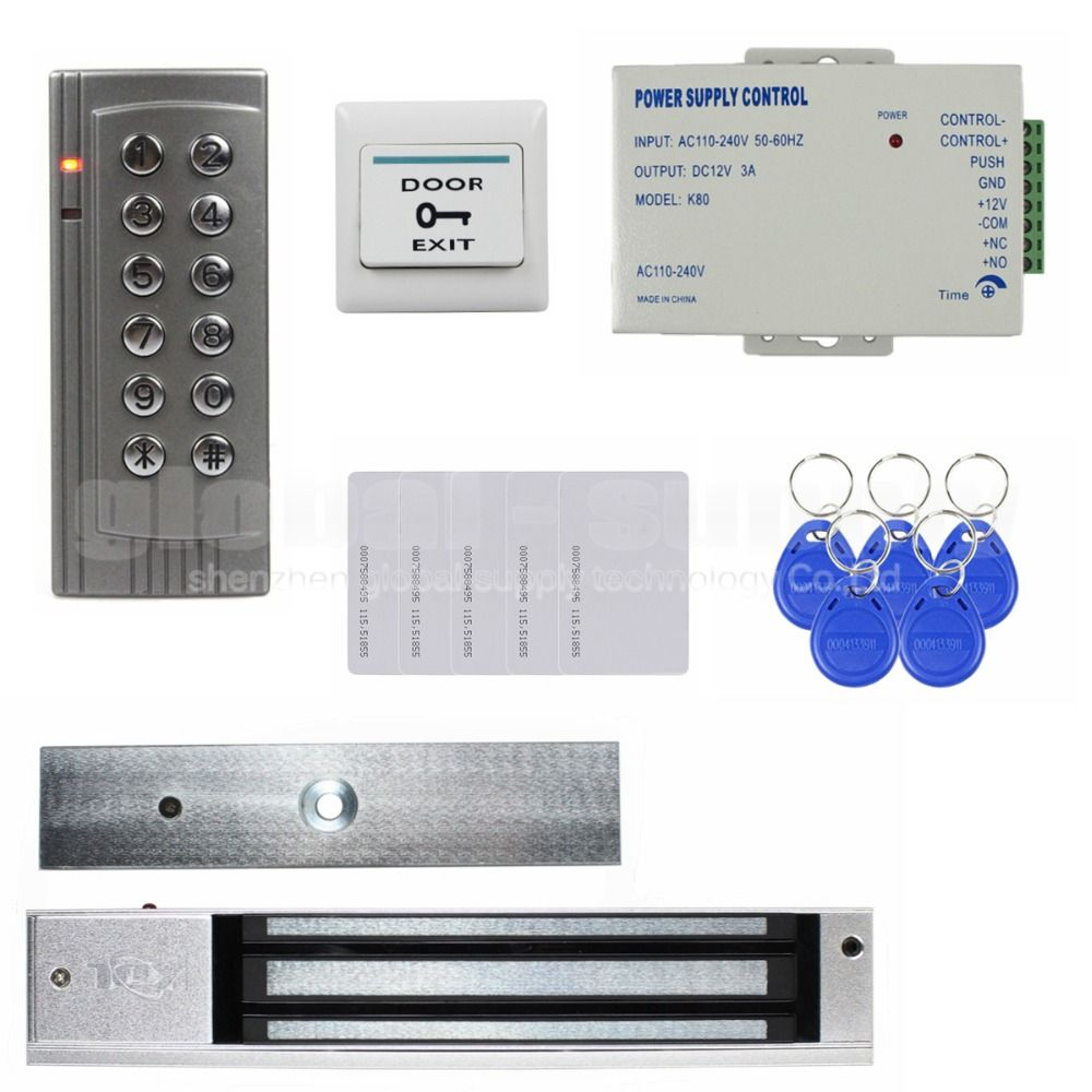 Diysecur Rfid 125khz Reader Password Keypad Access Control System Security Kit Electric Magnetic Door Magnetic Door Lock Access Control Access Control System