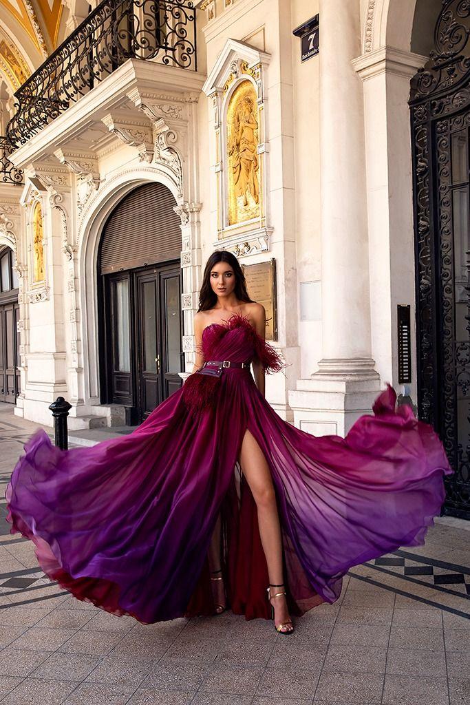 Robe de soirée sexy en mousseline de soie – Oksana Mukha Paris
