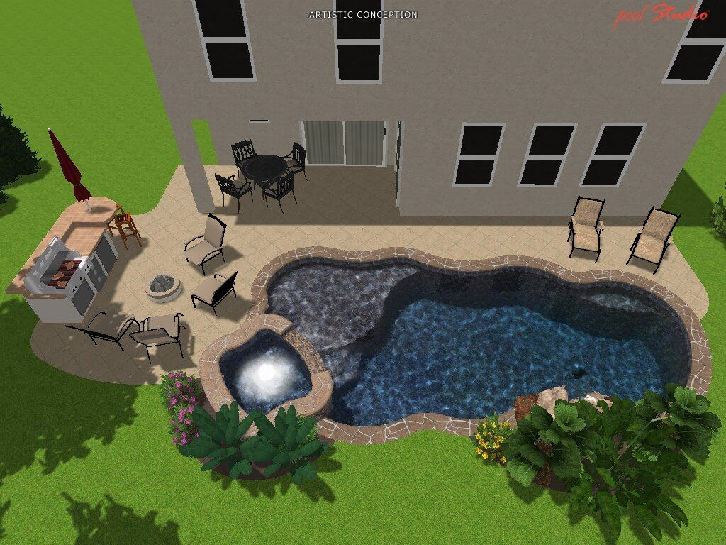 3D Pool design Orlando, custom pools Lake Nona, Clermont - 3-D 5 ...
