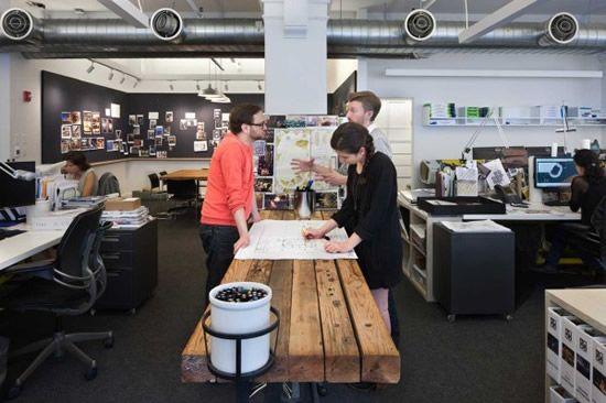 icrave new york office design pictures wraparound blackboard