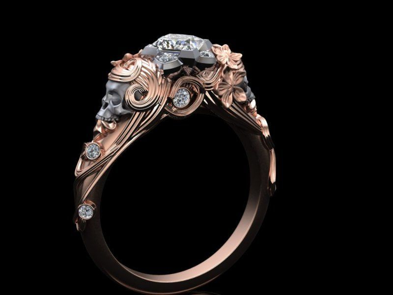 A Dark Mark Of Love These Subtle Skull Engagement Rings Will Be The Me