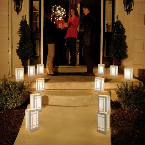 Plastic Luminarias - just add LED\u0027s  wire, and outline anything