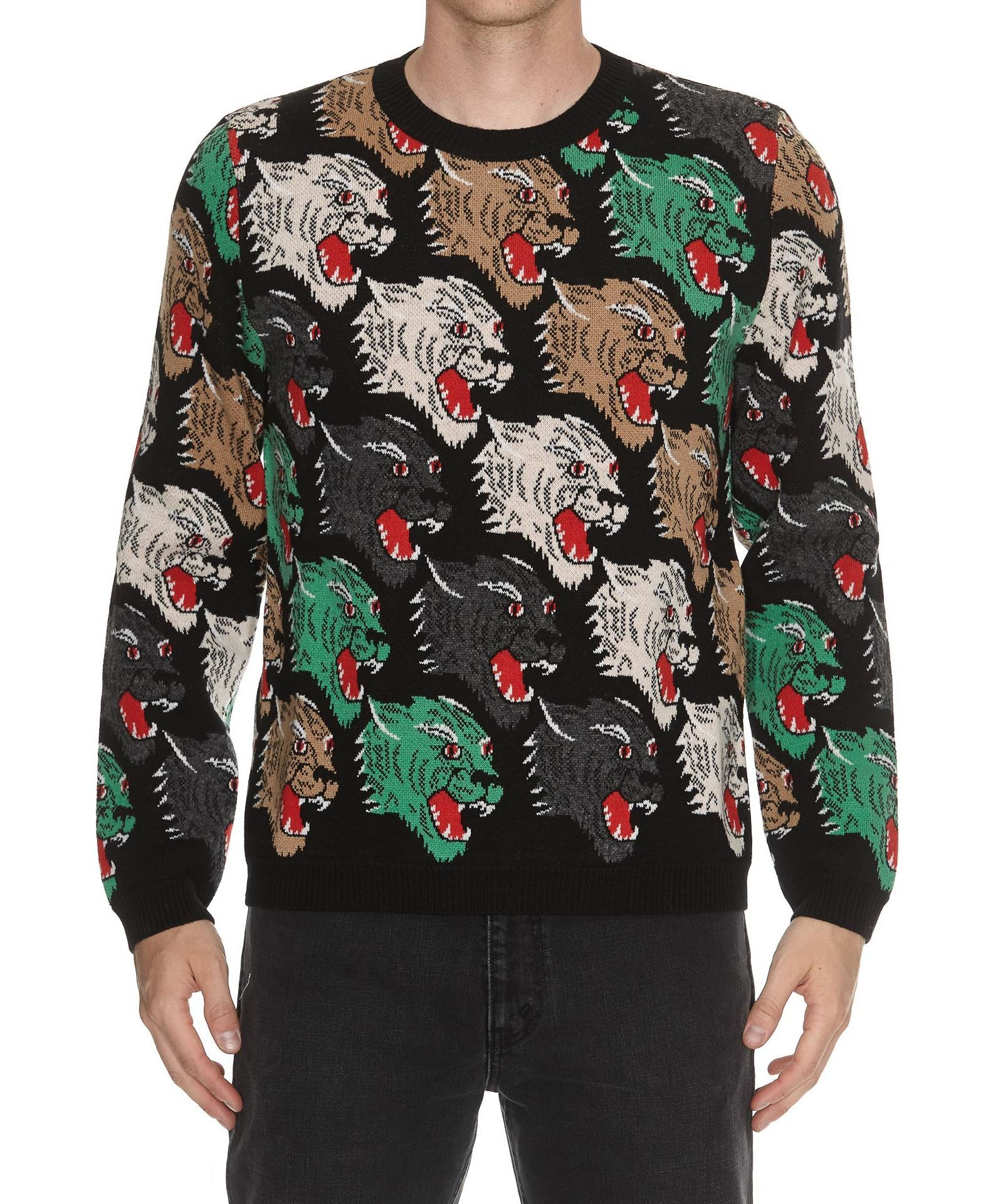 5cda45c444b GUCCI PANTHER FACE WOOL SWEATER.  gucci  cloth