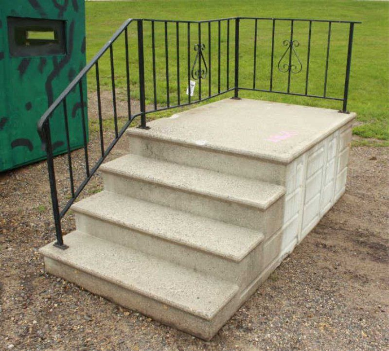 Image Result For Lowes Precast Concrete Steps Concrete Steps | Handrails For Concrete Steps Lowes | Aluminum | Fiberglass | House | Simple | 1 Step