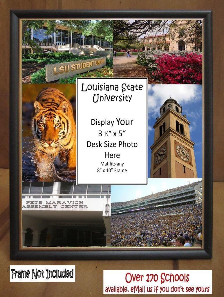 LSU Picture Frame Mat Louisiana State University Unique Graduation ...