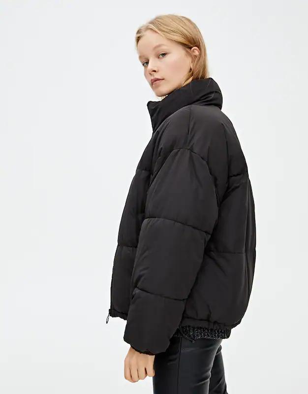 High neck puffer jacket PULL&BEAR Jackets, Puffer
