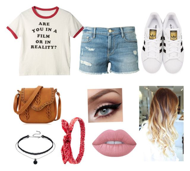"""""""Untitled #75"""" by xheartit101 on Polyvore featuring Frame Denim, adidas Originals, Charlotte Russe and Lime Crime"""