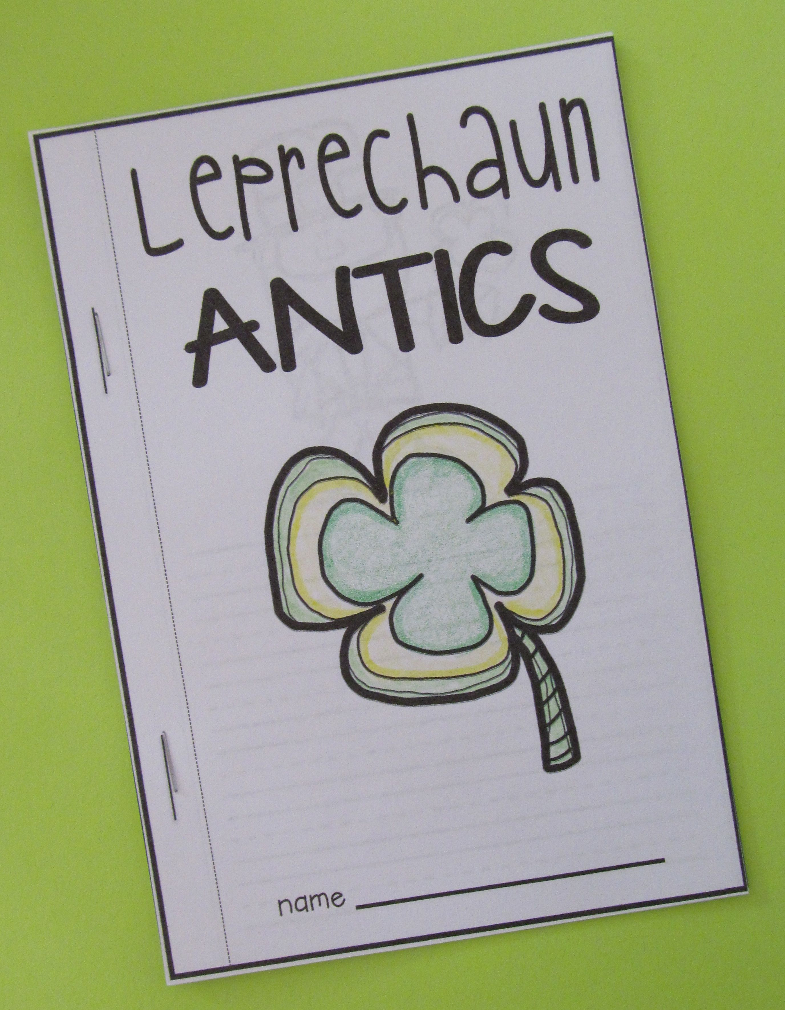 St Patrick S Day Literacy And Math Activities And Craft