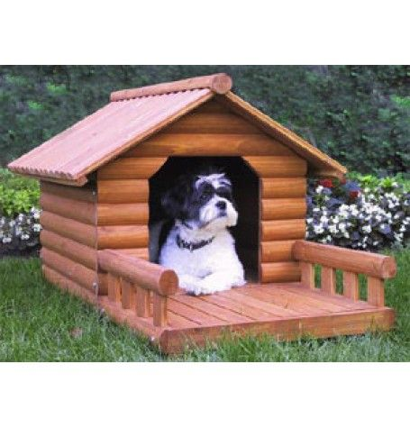 Outdoor Cat Houses Merrys Medium Log Home For Pets Dog House