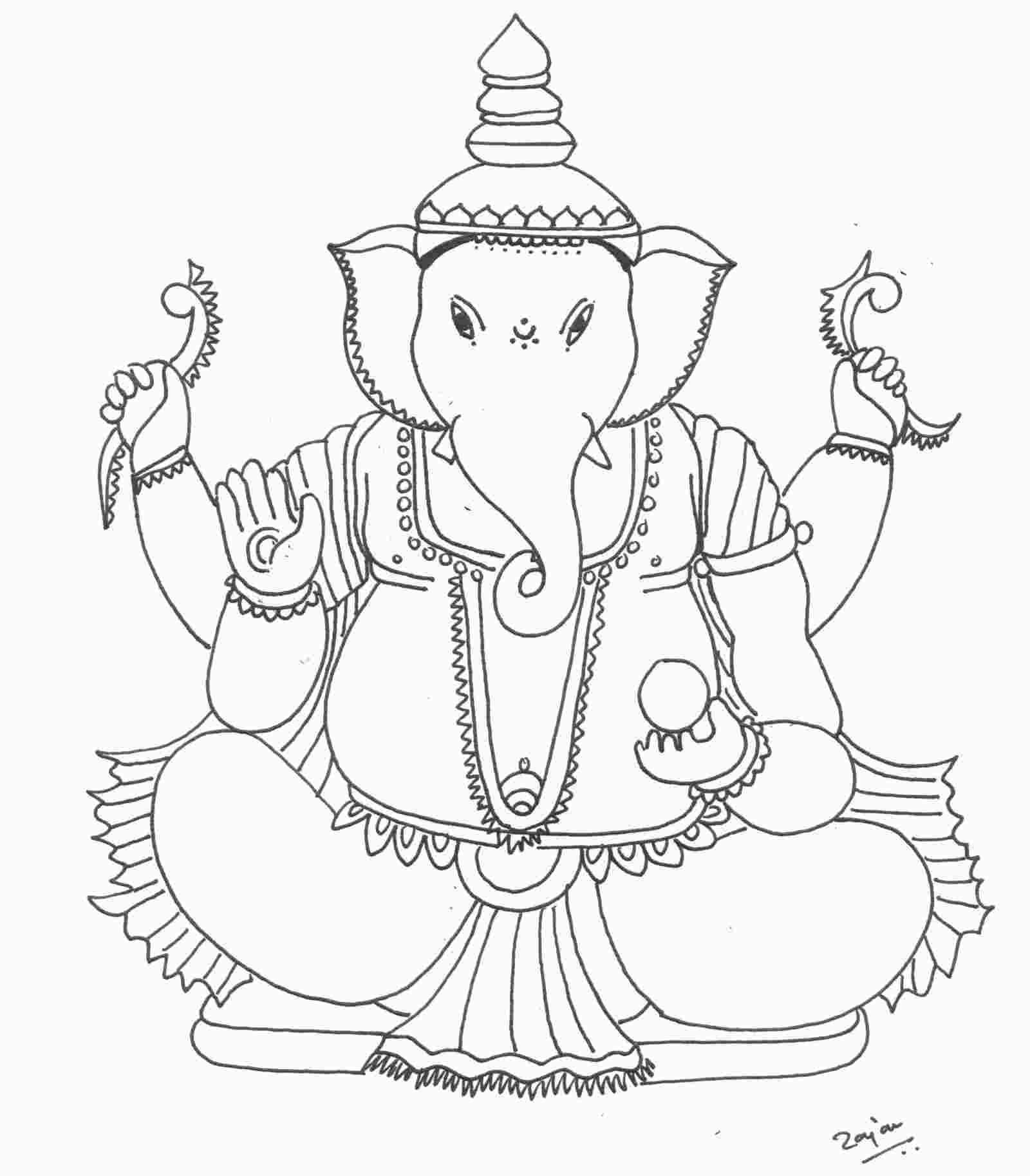 Ganesh Colouring In Sheet Cartoon Coloring Pages Coloring Pages