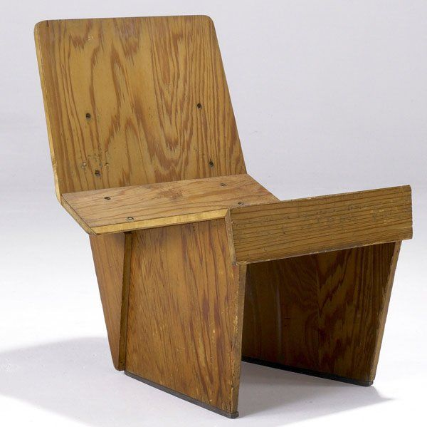 Frank Lloyd Wright; Tidewater Cypress Plywood Chair For The Charles And  Dorothy Manson Residence,