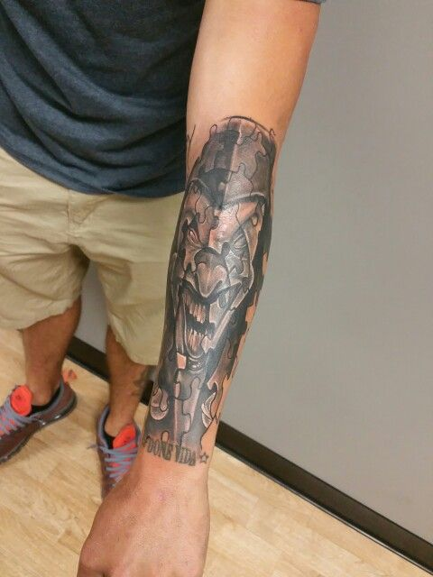 Start Of A Puzzle Piece Tattoo Sleeve Tattoos By Me Noah