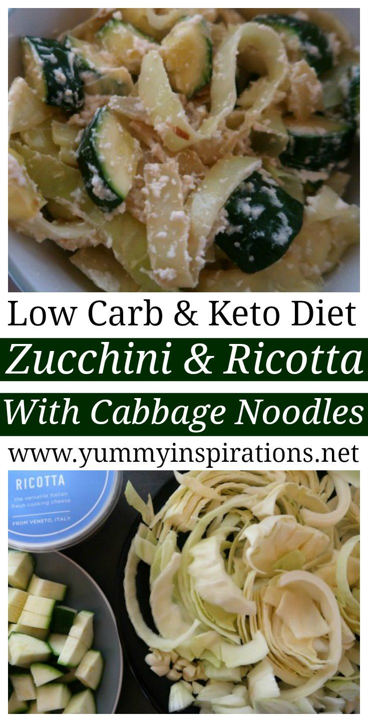 Zucchini And Ricotta With Cabbage Noodles