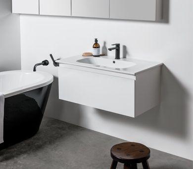 Michel Cesar Qubo Range Bathroom Furniture Wall Hung Vanity Bathroom Design