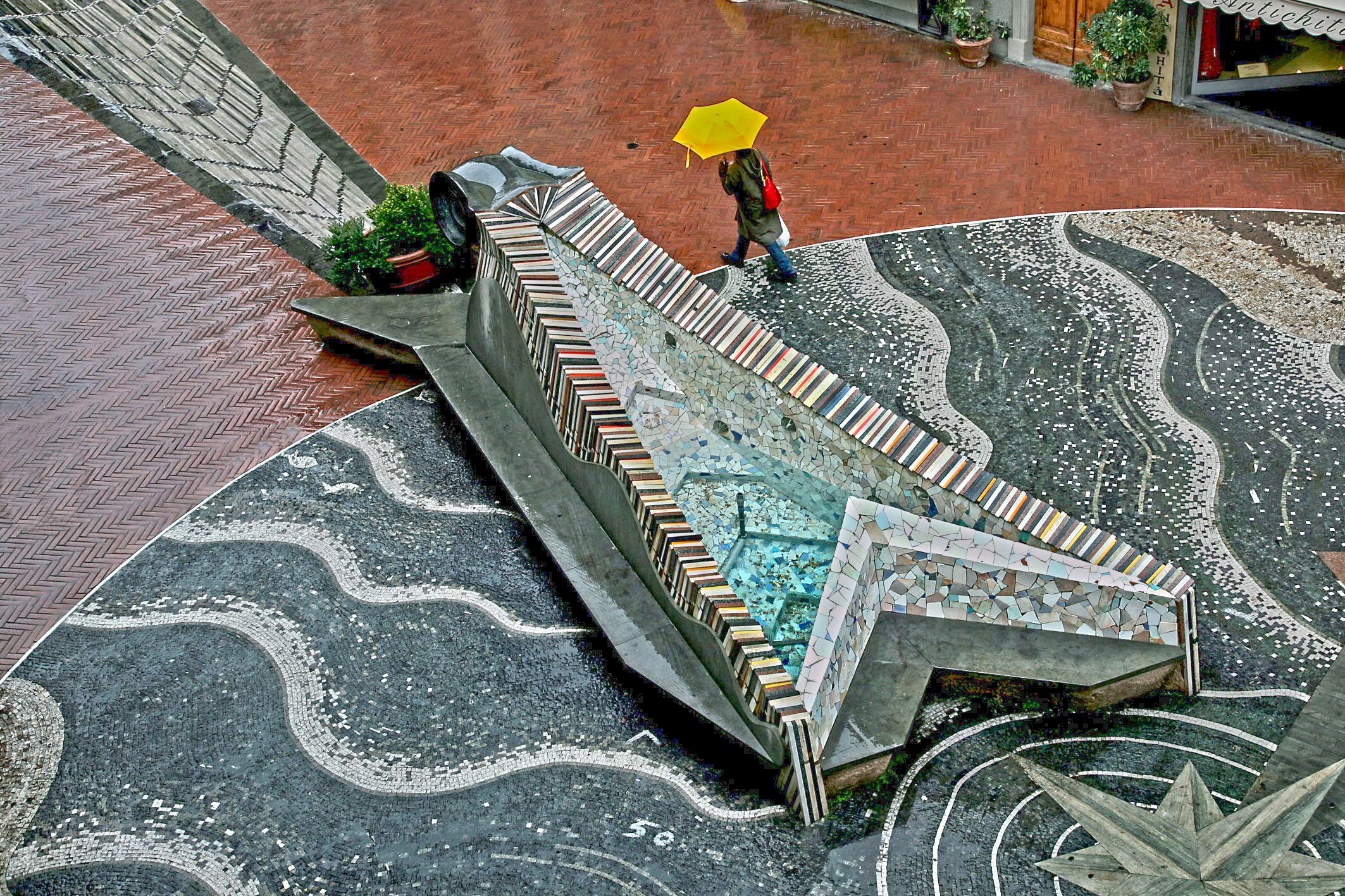 La barca in Corso Garibaldi - dall'alto