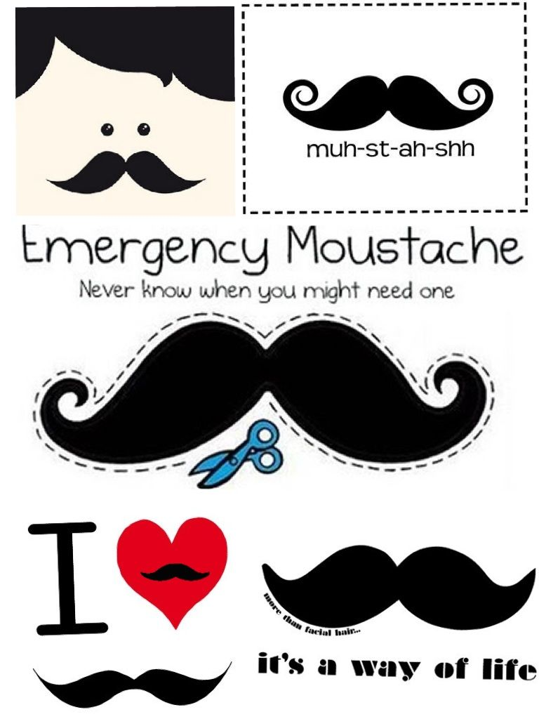 collage moustache - Buscar con Google