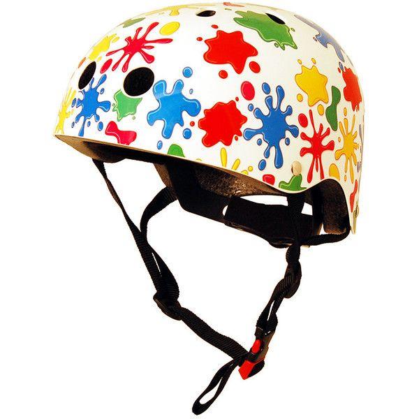 Kiddimoto Bike Helmet - Splatz (825 PHP) ❤ liked on Polyvore featuring toys and lullabies