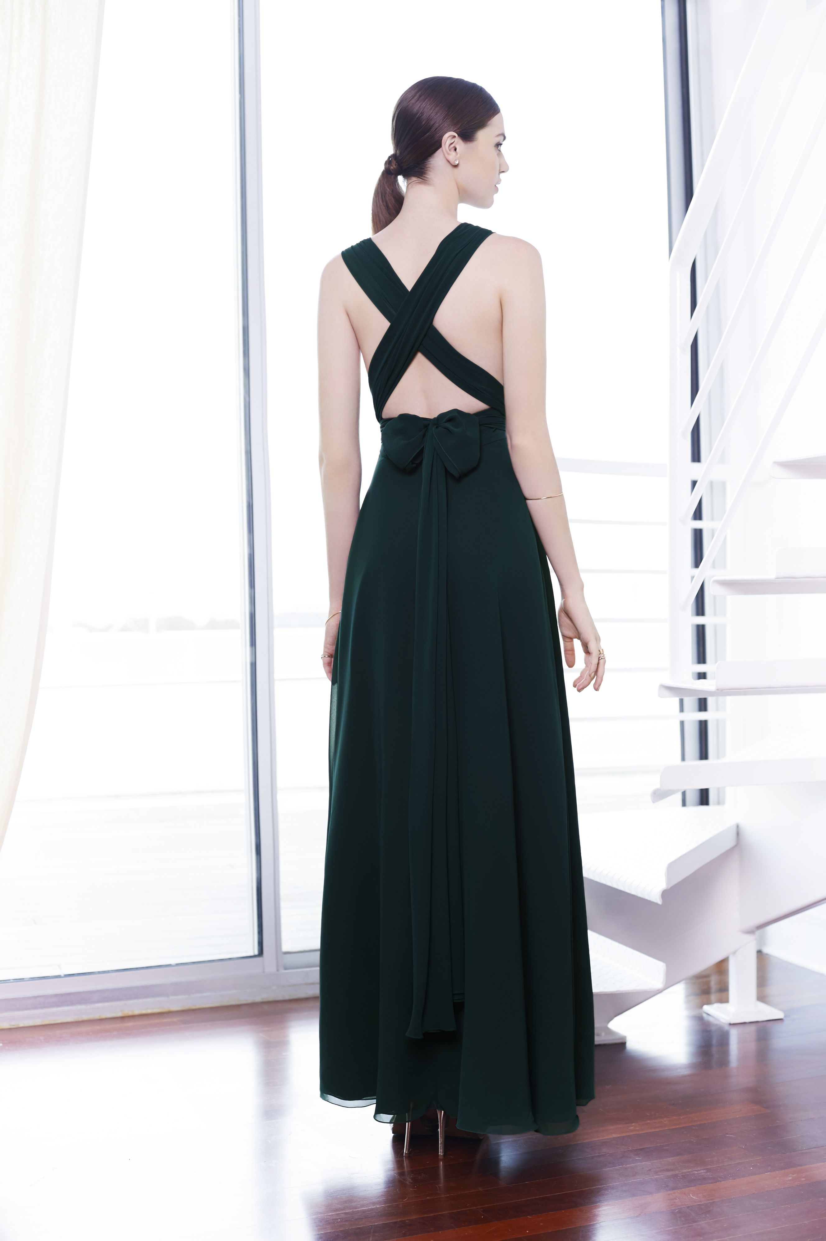 Colour by Kenneth Winston Style 5219 | Dresses can be modified to long or short. #specialoccasion #bridesmaid #infinitydress