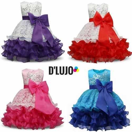 03ea77e7 Vestido Para Niña Elegante Fiesta Cumpleaños Regalo Bebe - $ 67.000 en Mercado  Libre
