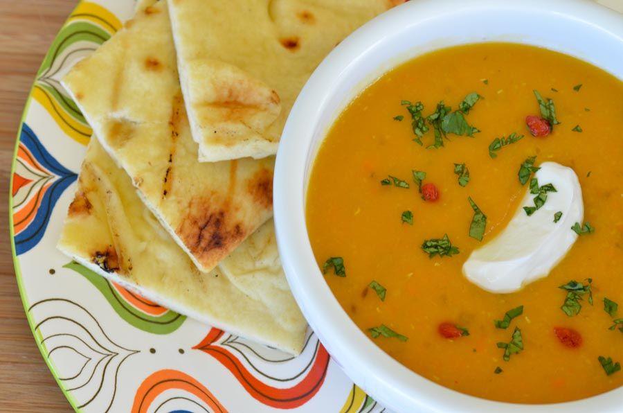 Carrot Lentil Soup from Maui FLour Child