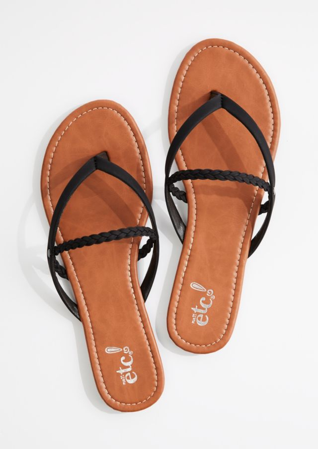 c6f61826ee8c8 image of Cognac Braided Strappy Flip Flop