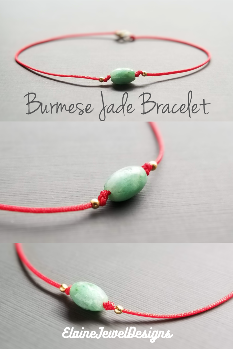 China Natural Jade Gemstone Beaded Knotted Silk Cord String Necklace for Pendant