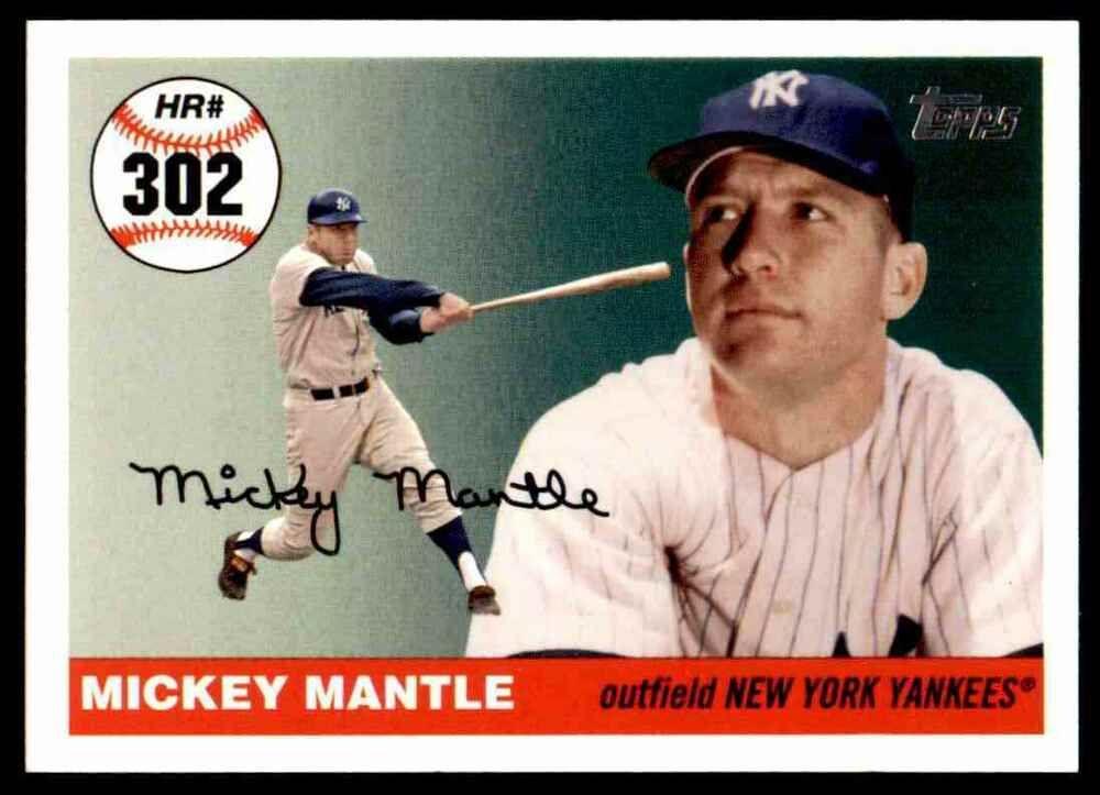 2007 Topps Baseball Mickey Mantle New York Yankees 302 Insert Newyorkyankees In 2020 New York Yankees Baseball Mickey Mantle