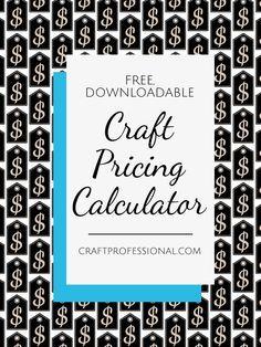 craft pricing formula and downloadable calculator calculator