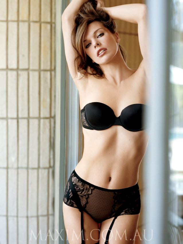 395945b915 Milla Jovovich lingerie photoshoot for Maxim